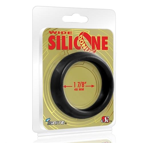 Wide Silicone Donut - Black - 1.88-Inch Diameter