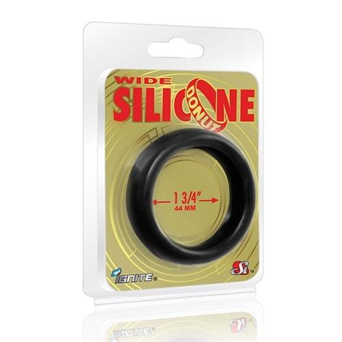Wide Silicone Donut - Black - 1.75-Inch Diameter