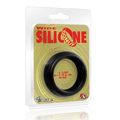 Wide Silicone Donut - Black - 1.5-Inch Diameter
