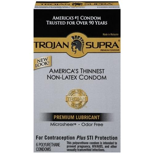 Trojan Supra Bareskin Non-Latex - 6 Pack