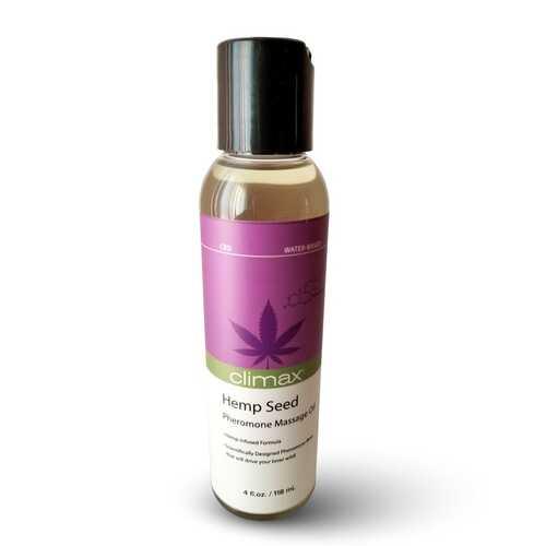 Climax Hemp Seed Pheromone Massage Oil - 4 Fl. Oz.