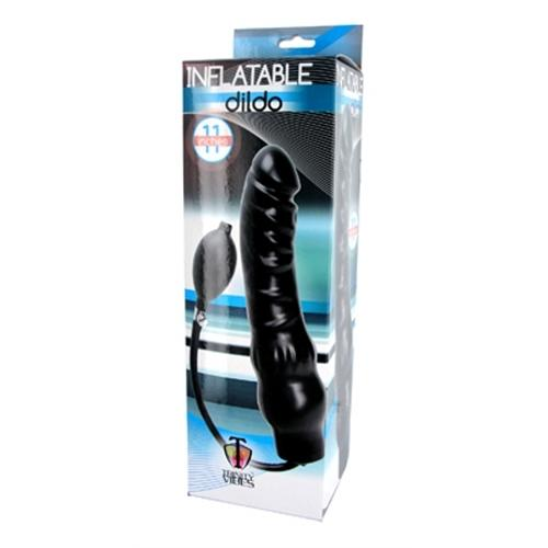 Inflatable 11 Inch Super Dong - Black