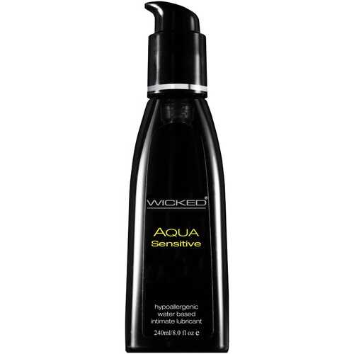 Wicked Aqua Sensitive Hypoallergenic Water Based Lubricant 8.0 Oz
