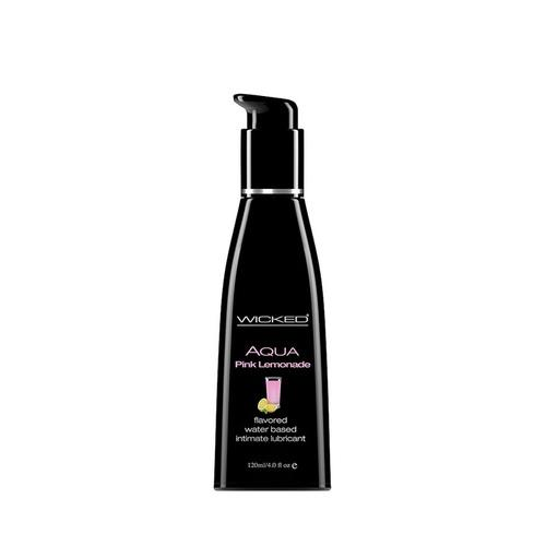 Aqua Pink Lemonade Flavored Water Based  Lubricant - 4 Oz. / 120 ml