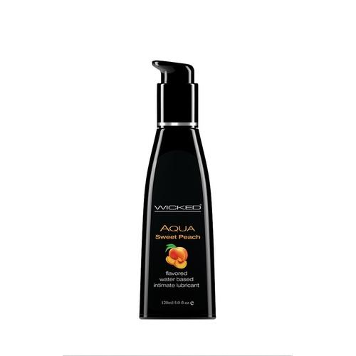 Aqua Sweet Peach Flavored Water Based Lubricant -  4 Oz. / 120 ml