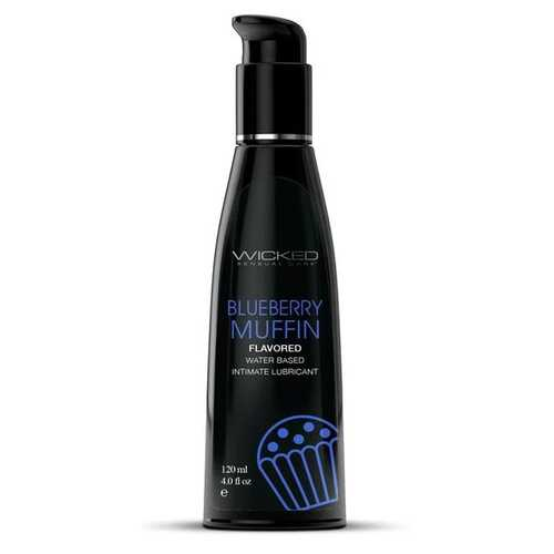 Aqua Blueberry Muffin Water Flavored Water- Based Lubricant - 4 Fl Oz/120ml