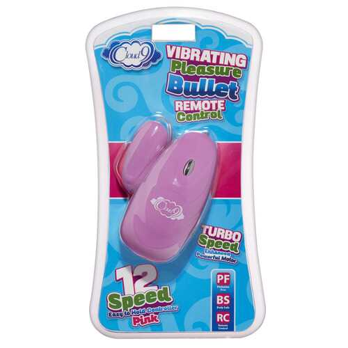 Vibrating Pleasure Bullet Remote Control - Pink