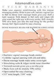 Adam's Tight Stroker With Massage Beads