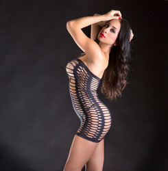 Tube Dress - One Size - Black