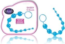 Sassy 10 Anal Beads Blue
