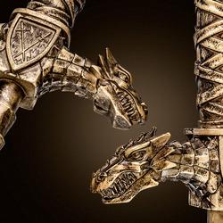 The Realm - Drago - Lock on Dragon Sword Handle - Bronze