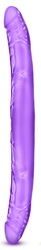 "B Yours 16"" Double Dildo - Purple"