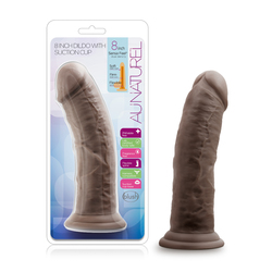 Au Naturel - 8 Inch Dildo With Suction Cup -  Chocolate