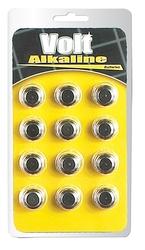 Volt Alkaline Batteries AG-13 - 12 Pack