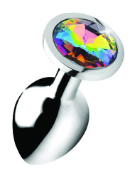 Rainbow Prism Gem Anal Plug - Medium