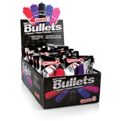 Soft Touch 3 + 1 Bullets - 20 Count Pop Box Display - Assorted Colors