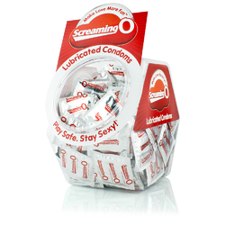 Screaming O Condoms - Lubricated - 144 Count Bowl