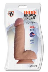 "6"" Home Grown Cock - Latte"
