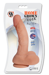 "9"" Home Grown Cock - Vanilla"
