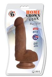 "6"" Home Grown Cock - Chocolate"