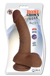 "9"" Home Grown Cock - Chocolate"