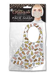 Glitterati Penis Party Glitter Pattern Face Mask