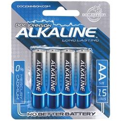 Doc Johnson Alkaline Batteries - AA - 4 Pack