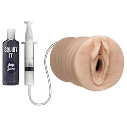 Squirt It - Squirting Pussy Stroker With Joy Juice - Vanilla