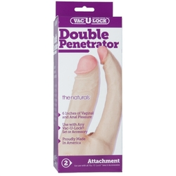 Vac-U-Lock Double Penetrator - White