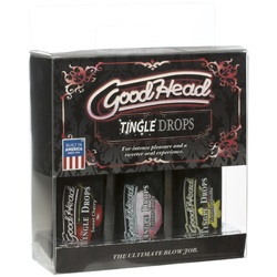 Goodhead - Tingle Drops- 3-Pack - French Vanilla, Cotton Candy, Sweet Cherry