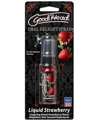 Good Head Oral Delight Spray 1 Oz  - Liquid Strawberry