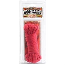 Bondage Rope - Cotton - Japanese Style - Red