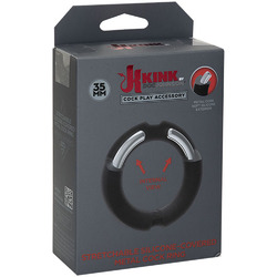 Hybrid Silicone Covered Metal Cock Ring - 35mm