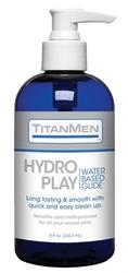 Titanmen Hydro Play Water Based Glide - Bulk - 8 Fl. Oz.