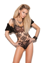 Lace Teddy - One Size - Black