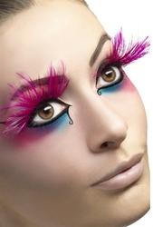 Feather Plume Eyelashes - Pink