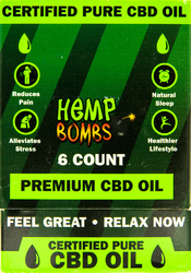 Hemp Bombs Oil 600mg Peppermint 6ct Display 1 Fl. Oz