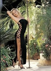 Slinky Dress - One Size - Black