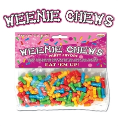 Weenie Chews Multi Flavor Assorted Penis Shaped Candy - 125 Piece Bag