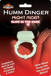 Humm Dinger Night Rider Glow-in-the-Dark Vibrating Penis Ring - Each