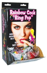 Rainbow Cock Ring Pop - 12 Piece Display