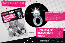 Light Up Diamond Ring 5 Pk