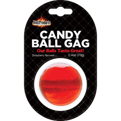 Candy Ball Gag - Strawberry 2.4 Oz