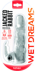 Jack Rabbit Dual Vibrating Extender - Clear