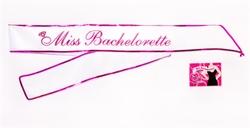 Miss Bachelorette Sash - White