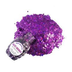 Berry Mischievous Cosmetic Glitter Glitz Grenade Keychain in Aloe Gel