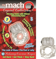 The Macho Crystal Collection Pulsating Erection Keeper - Clear