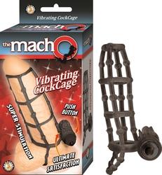 The Macho Vibrating Cockcage - Black
