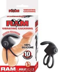 Ram Vibrating Cockring - Black