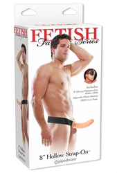 "Fetish Fantasy Series 8"" Hollow Strap-on - Flesh"